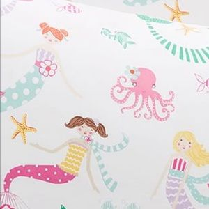 Pottery Barn Kids Organic Mermaid Sheet Set - Full